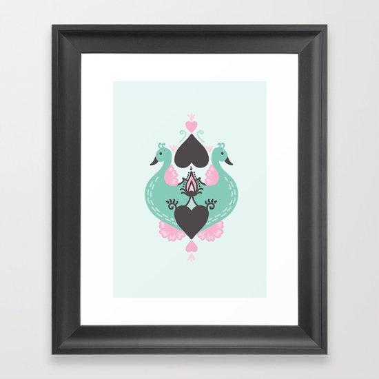 Pretty Peacocks Framed Art Print