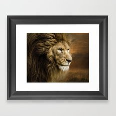 The Old King Framed Art Print