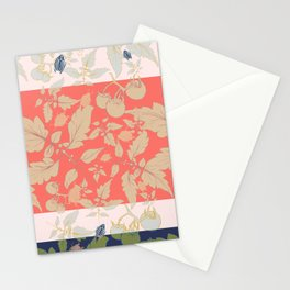 Tomatos and beetles - Pantone palete - mix colors Stationery Cards