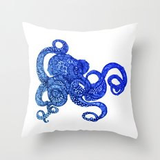 Ombre Octopus Throw Pillow
