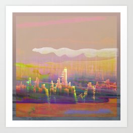 Back to that City, Dreamscape Art Print