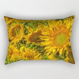 Sun worshipers Rectangular Pillow