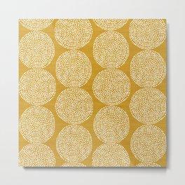 Beech in Gold Metal Print