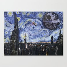 A Starry Wars Night Canvas Print