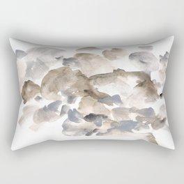180630 Abstract Watercolour Grey Black Brown Neutral 20   Watercolor Brush Strokes Rectangular Pillow