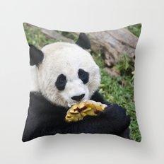 Panda Likes Throw Pillow
