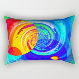 Re-Created Twisters No. 11 by Robert S. Lee Rectangular Pillow