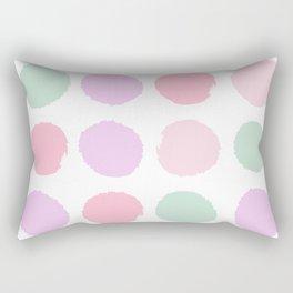 Dots pastels modern minimal dorm college office minimalist decor Rectangular Pillow