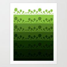 Green palette ultimate Art Print