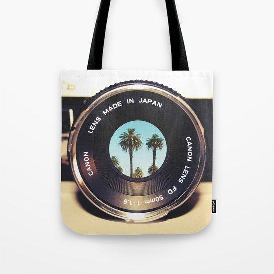focus on palms Tote Bag