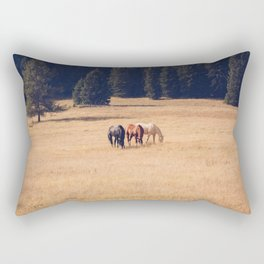Montana Collection - Horses on the Ranch Rectangular Pillow