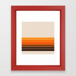 Golden Spring Stripes Framed Art Print