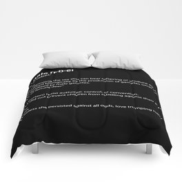 fe·male reb·el definition, inspiring typography Comforters