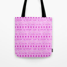 Lacey Lace - White Pink Tote Bag