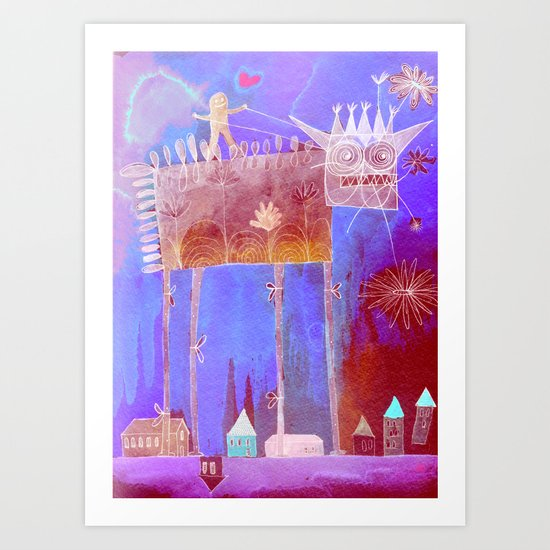crazy song about love Art Print