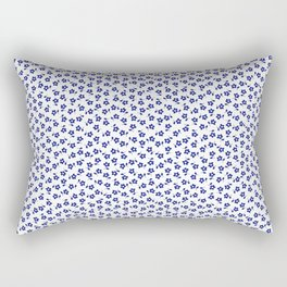 Forget Me Nots - Blue on White Rectangular Pillow