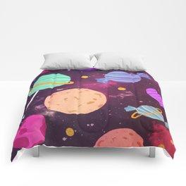 Sweet Planets Comforters