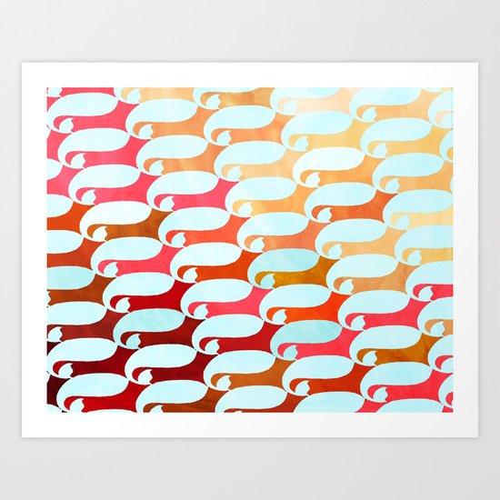 Blue Whale & Red Fox Art Print