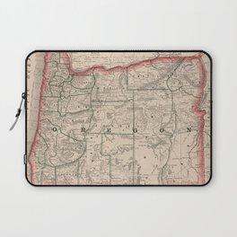 Vintage Map of Oregon (1883) Laptop Sleeve