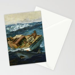 Winslow Homer1 - The Gulf Stream - Digital Remastered Edition Stationery Cards