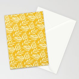 Tribal Husk - yellow Stationery Cards