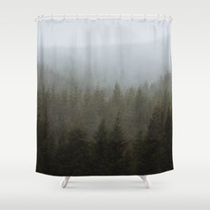 Snowy Forks Forest Shower Curtain