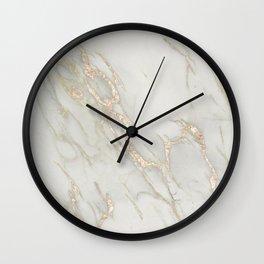 Marble Love Bronze Metallic Wall Clock