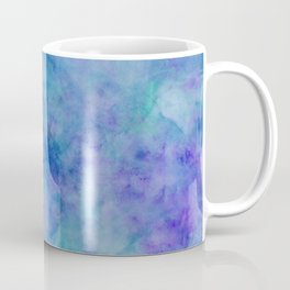 Bright Blue Watercolor Texture Coffee Mug