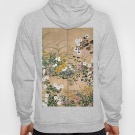 Ogata Korin Flowering Plants in Autumn Hoody