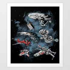 Ultimate Space Fleet Art Print