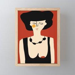Girl in evening gown Framed Mini Art Print