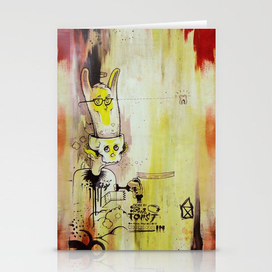 Deathy By Fresh Toast Stationery Cards