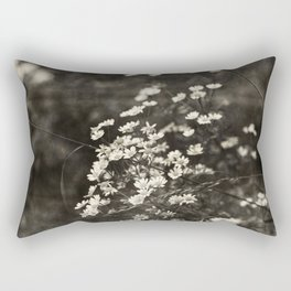 Daisies - sepia Rectangular Pillow