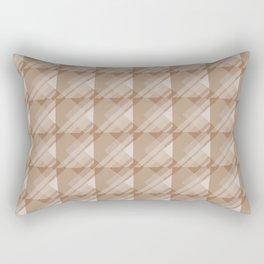 Modern Geometric Pattern 7 in Cinnamon Spice Rectangular Pillow