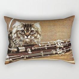 Music was my first love - cat and bassoon Rectangular Pillow