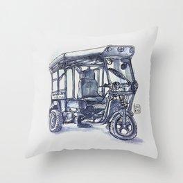vietnam 3 wheelers Throw Pillow