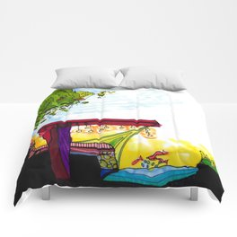 Gypsy River Architectural Illustration 89 Comforters