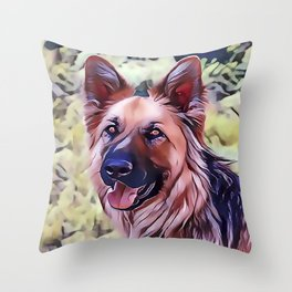 The Shiloh Shepherd Throw Pillow