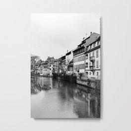 Strasbourg During Christmas Metal Print