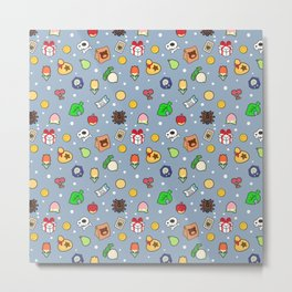 ac cute pattern blue Metal Print