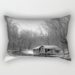 Cabin on the River Rectangular Pillow