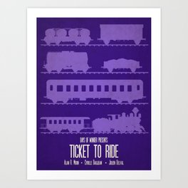 Ticket to Ride - Minimalist Board Games 07 Art Print