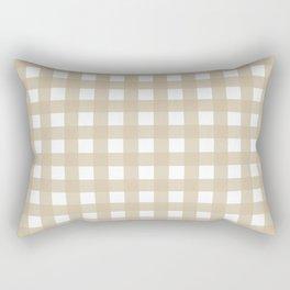 Farmhouse Gingham in Burlap Rectangular Pillow