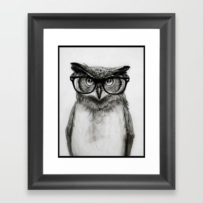 Mr. Owl Gerahmter Kunstdruck