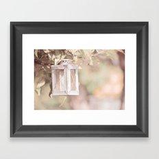 Pastel Lantern Framed Art Print