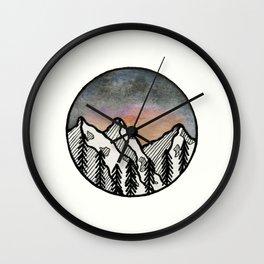 Three peaks I Wall Clock