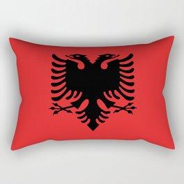 National flag of Albania - Authentic version Rectangular Pillow