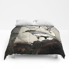 Rustic Black Bird Raven Crow Tree Moon A142 Comforters