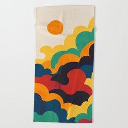 Cloud nine Beach Towel