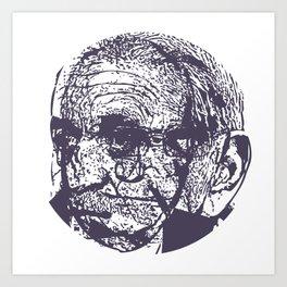 Faces, 7 Art Print